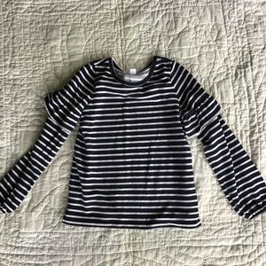 Navy and White Striped Sweatshirt